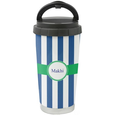 Stripes Stainless Steel Travel Mug (Personalized)