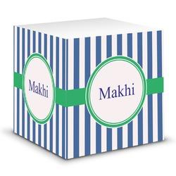 Stripes Sticky Note Cube (Personalized)