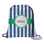 Stripes Drawstring Backpack (Personalized)