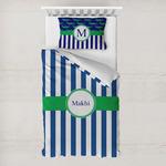 Stripes Toddler Bedding w/ Name or Text