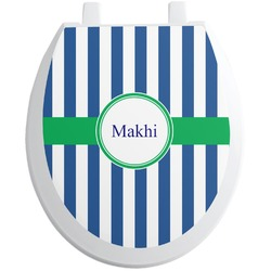 Stripes Toilet Seat Decal (Personalized)