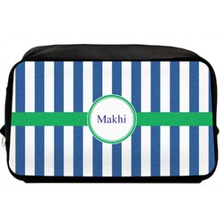 Stripes Toiletry Bag / Dopp Kit (Personalized)