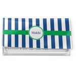 Stripes Vinyl Checkbook Cover (Personalized)