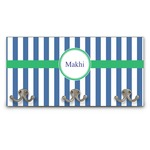 Stripes Wall Mounted Coat Rack (Personalized)