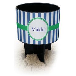 Stripes Black Beach Spiker Drink Holder (Personalized)