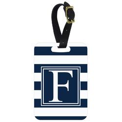 Horizontal Stripe Aluminum Luggage Tag (Personalized)