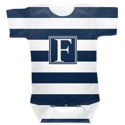 Horizontal Stripe Baby Bodysuit 3-6 (Personalized)