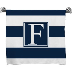 Horizontal Stripe Full Print Bath Towel (Personalized)