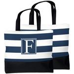 Horizontal Stripe Beach Tote Bag (Personalized)