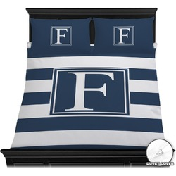 Horizontal Stripe Duvet Cover Set (Personalized)