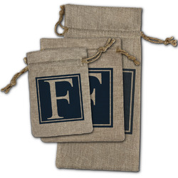 Horizontal Stripe Burlap Gift Bags (Personalized)