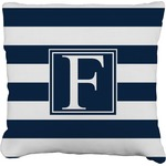 Horizontal Stripe Faux-Linen Throw Pillow (Personalized)