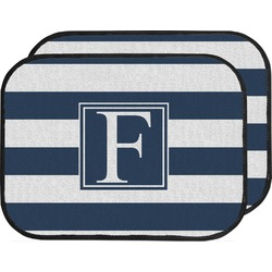 Horizontal Stripe Car Floor Mats (Back Seat) (Personalized)