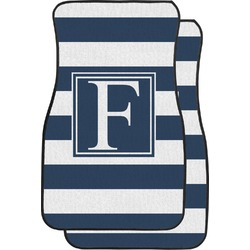 Horizontal Stripe Car Floor Mats (Front Seat) (Personalized)