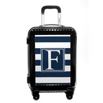 Horizontal Stripe Carry On Hard Shell Suitcase (Personalized)
