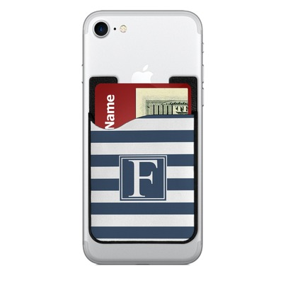 Horizontal Stripe 2-in-1 Cell Phone Credit Card Holder & Screen Cleaner (Personalized)