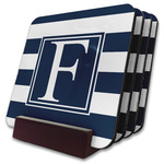 Horizontal Stripe Coaster Set w/ Stand (Personalized)