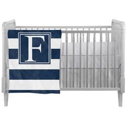 Horizontal Stripe Crib Comforter / Quilt (Personalized)