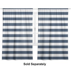 "Horizontal Stripe Curtains - 20""x84"" Panels - Lined (2 Panels Per Set) (Personalized)"