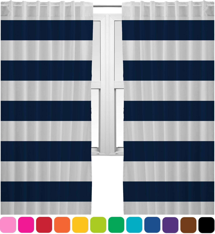 Horizontal Stripe Curtains 20 X63 Panels Lined 2
