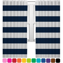 Horizontal Stripe Curtains (2 Panels Per Set) (Personalized)