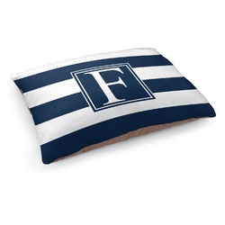 Horizontal Stripe Dog Bed - Medium w/ Initial