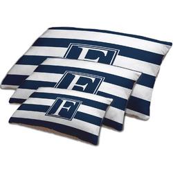 Horizontal Stripe Dog Bed w/ Initial