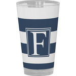 Horizontal Stripe Drinking / Pint Glass (Personalized)