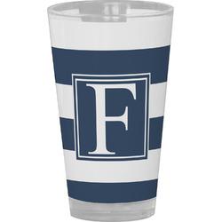 Horizontal Stripe Drinking / Pint Glass (Personalized)
