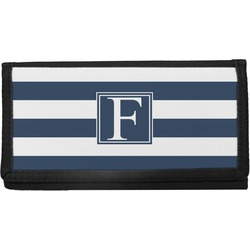 Horizontal Stripe Canvas Checkbook Cover (Personalized)