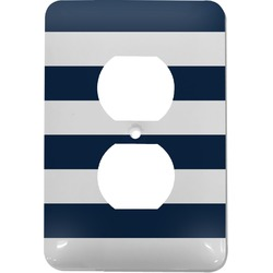 Horizontal Stripe Electric Outlet Plate (Personalized)