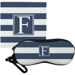 Horizontal Stripe Eyeglass Case & Cloth (Personalized)