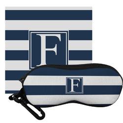 Horizontal Stripe Eyeglass Case & Cloth (Personalized)