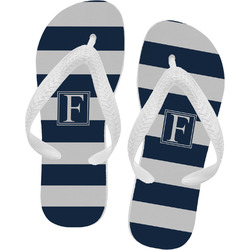 Horizontal Stripe Flip Flops - XSmall (Personalized)