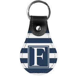 Horizontal Stripe Genuine Leather  Keychain (Personalized)