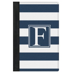 Horizontal Stripe Genuine Leather Passport Cover (Personalized)