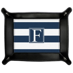 Horizontal Stripe Genuine Leather Valet Tray (Personalized)