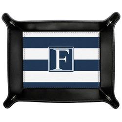 Horizontal Stripe Genuine Leather Valet Tray (Personalized)
