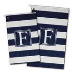 Horizontal Stripe Golf Towel - Full Print w/ Initial