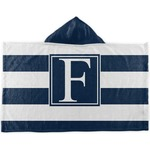 Horizontal Stripe Kids Hooded Towel (Personalized)