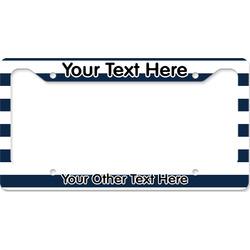 Horizontal Stripe License Plate Frame (Personalized)