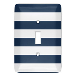 Horizontal Stripe Light Switch Cover (Single Toggle) (Personalized)