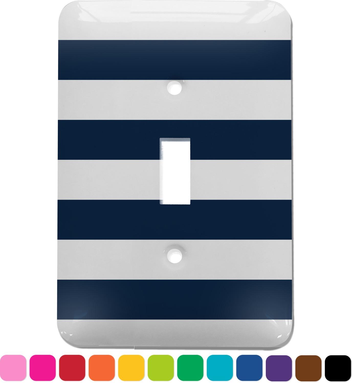 Horizontal Stripe Light Switch Cover Single Toggle