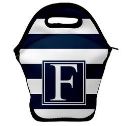Horizontal Stripe Lunch Bag w/ Initial