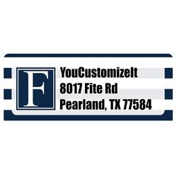 Horizontal Stripe Return Address Labels (Personalized)