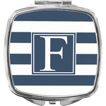 Horizontal Stripe Compact Makeup Mirror (Personalized)