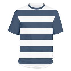 Horizontal Stripe Men's Crew T-Shirt (Personalized)