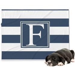 Horizontal Stripe Minky Dog Blanket - Large  (Personalized)
