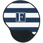Horizontal Stripe Mouse Pad with Wrist Support