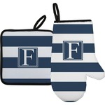 Horizontal Stripe Oven Mitt & Pot Holder (Personalized)